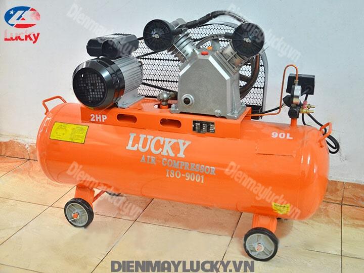Máy Nén Khí Piston Lucky 90 Lít 220v 2hp(5) (1) Min